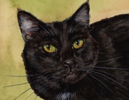 Black Cat Art Carol Wells