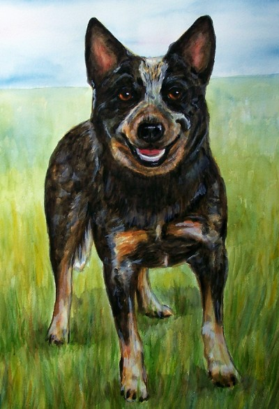 Dog Watercolor Carol Wells