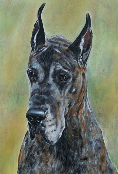 Great Dane Oil painting Dog Carol Wells