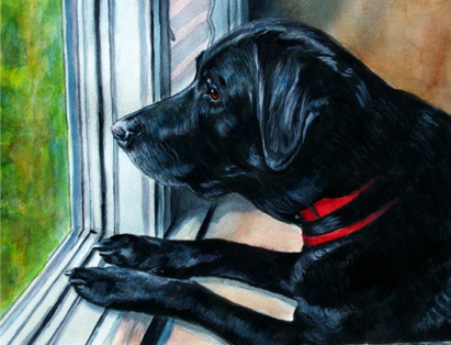 Black Lab Watercolor