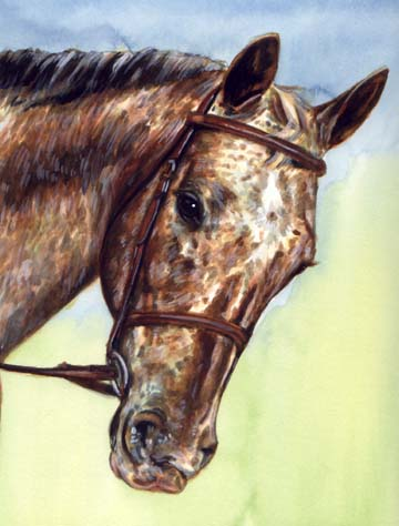Speckled Horse Painting Wells
