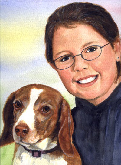 Beagle Watercolor Portrait Carol Wells