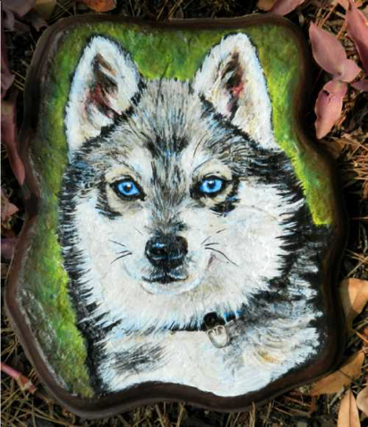 Malamute Dog Watercolor Carol Wells